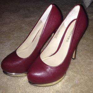 Modern Vice Shoes - Maroon Leather Stilettos