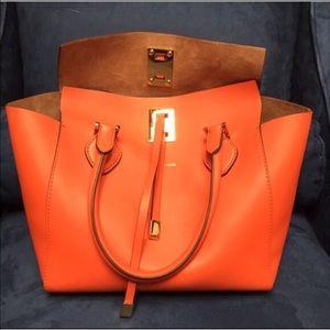 Michael Kors Handbags - Orange Michael Kors Miranda Tote