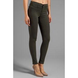 J Brand Denim - [J Brand]french sateen midrise super skinny jeans