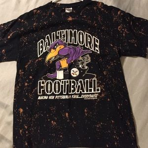 Baltimore Ravens distressed printed tshirt