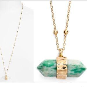 Nordstrom Jewelry - Jade stone pendant
