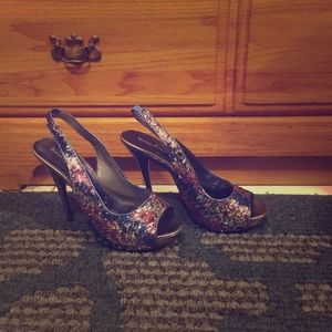 Michael Antonio Sequined Heels