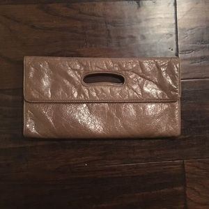 Hobo Genuine Leather Taupe Clutch