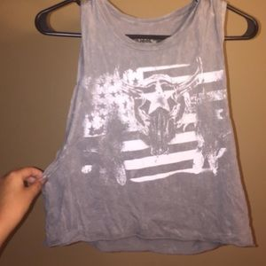 Nordstrom gray muscle tee