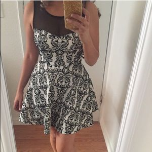 Dresses & Skirts - Black and white textured party dress🎉🎉