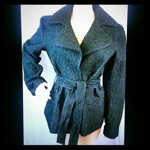 Alberta Ferretti black coat jacket blazer 6-8