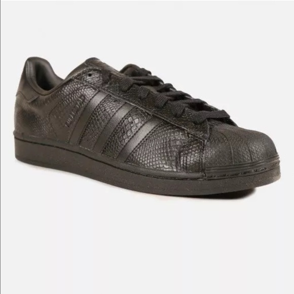 check out 68bec 7c480 Adidas Shoes - Adidas Superstar black snake skin shoes! Size 7