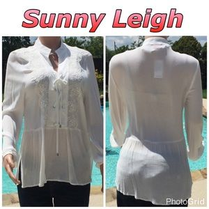 Sunny Leigh Tops - Ladies boho chic blouse by Sunny Leigh