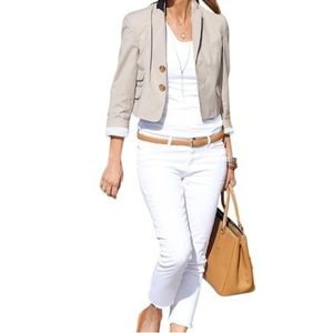 Anthro Troy Smith Cropped Blazer