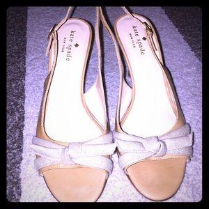 Kate Spade | open-toe slingback kitten heel | sz 7