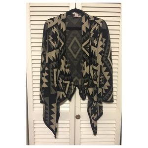 A Knitch Above Sweaters - Tribal print long sleeve