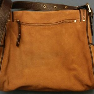 3019b371594 Maxx NY Signature Bags   Burnt Orange Suede Shoulder Bag   Poshmark