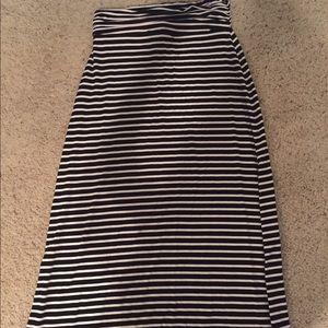 J. Crew Striped Maxi Skirt