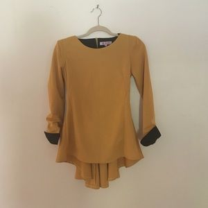Gold Zip back Tunic