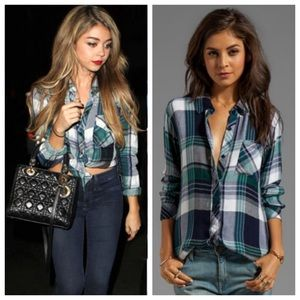 Rails plaid shirt - navy & green