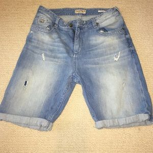 Scotch Shrunk Other - Scotch Shrunk distressed light blue denim shorts