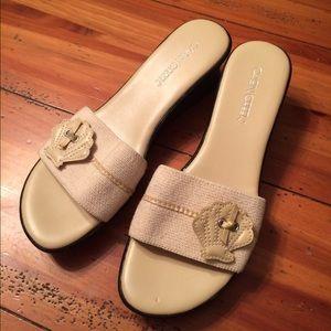 Cabin Creek Shoes - Tan Wedge Sandal. Slide on. Size 9. BUNDLE