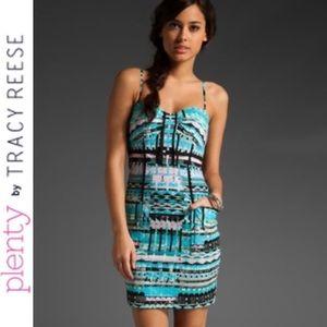 PLENTY BY TRACY REESE Sweet Tribal Corset Dress