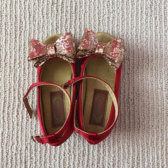 Joyfolie Valeria Red Satin Shoes
