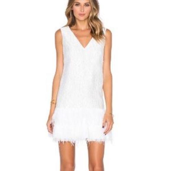 BCBGMaxAzria Dresses & Skirts - BCBG White Feather Dress