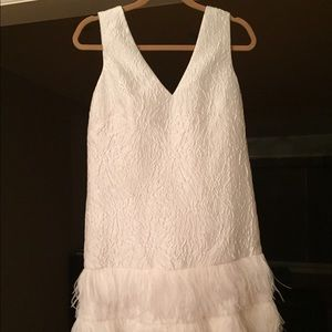 BCBGMaxAzria Dresses - BCBG White Feather Dress