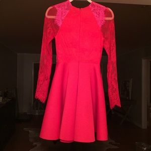 ASOS Dresses - Asos red and pink lace dress