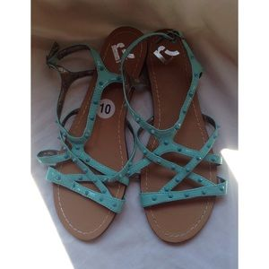 Report Collection Shoes - New turquoise flat Report sandals size 10