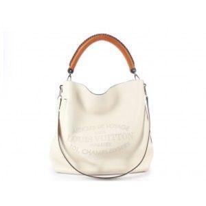 Louis Vuitton Blanc Ivory Bagatelle Hobo Bag