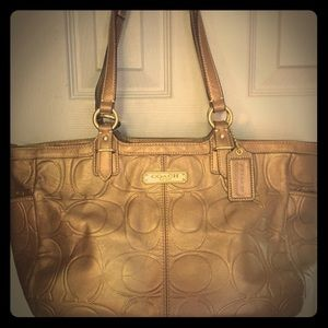 Coach Handbags - Coach Gallery Embossed Leather Tote