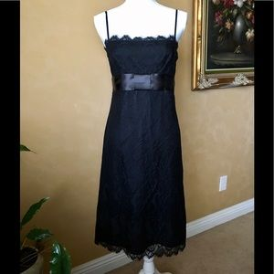 INC International Concepts Dresses & Skirts - INC Black Lace Sheath Satin Bow, size 12