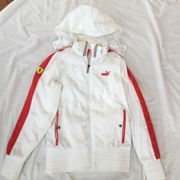 Puma Ferrari windbreaker jacket (white)