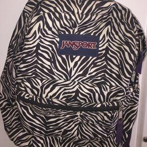 Jansport Zebra color backpack..