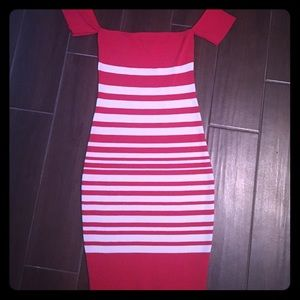Dresses & Skirts - Red/white stripped dress size small