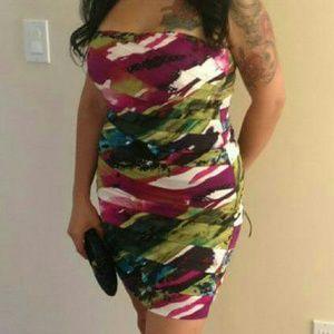 Dresses & Skirts - Multi-colored Strapless Dress