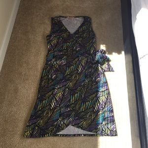 Casual Couture by Green Envelope Dresses & Skirts - Multicolored Faux Wrap Dress