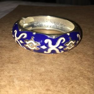 Royal blue cuff bracelet