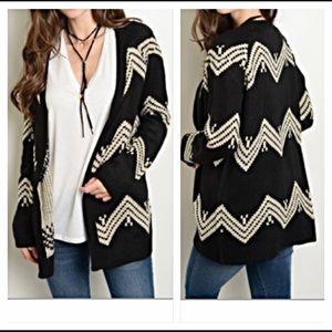 ✨SALE Chevron Cardigan Knit Sweater S M