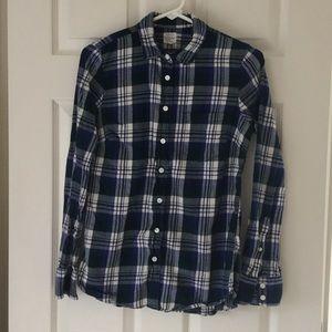 J Crew Factory Flannel Plaid Shirt size XS