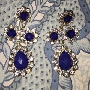Baublebar blue and gold statement earrings