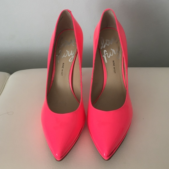 5feab89037c7 Nine Weat Love Fury Hot Pink pumps. M 57d83fadbcd4a70ff904ed01. Other Shoes  you may like. Nine West Black Heels 👠