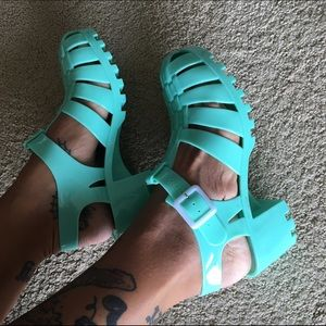 Shoes - MINT GREEN JELLIES.