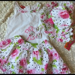 Kate Mack Other - Precious 3 piece outfit with matching hat