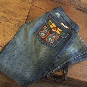 Frankie B. Denim - Frankie B. Butterfly pocket jeans.