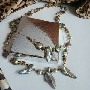 Beaded Freshwater Pearl Necklace