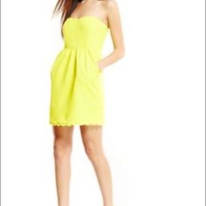 Julie Brown Dresses & Skirts - JB by Julie Brown Strapless Yellow Scallop Dress