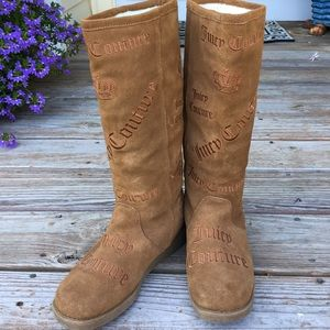 Brown Suede Juicy Couture Boots