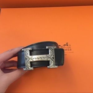 Hermes Accessories - Authentic Hermes Belt Rare: Sterling Silver Buckle