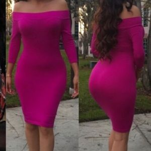 Dresses - Pink bodycon dress
