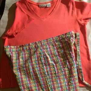 Other - Crinkle Capris & Tee