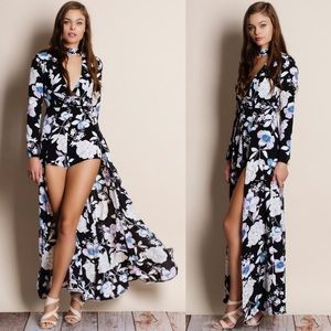 810c03d8c76a Bare Anthology Dresses - Choker Cut Out Maxi Romper Dress